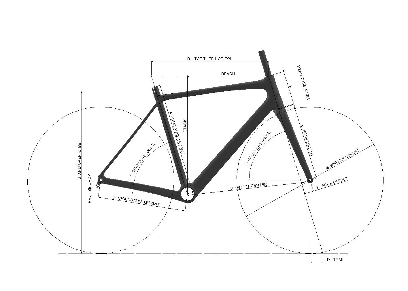 Géométrie 785 HUEZ RS BLACK GREY GLOSSY MAT